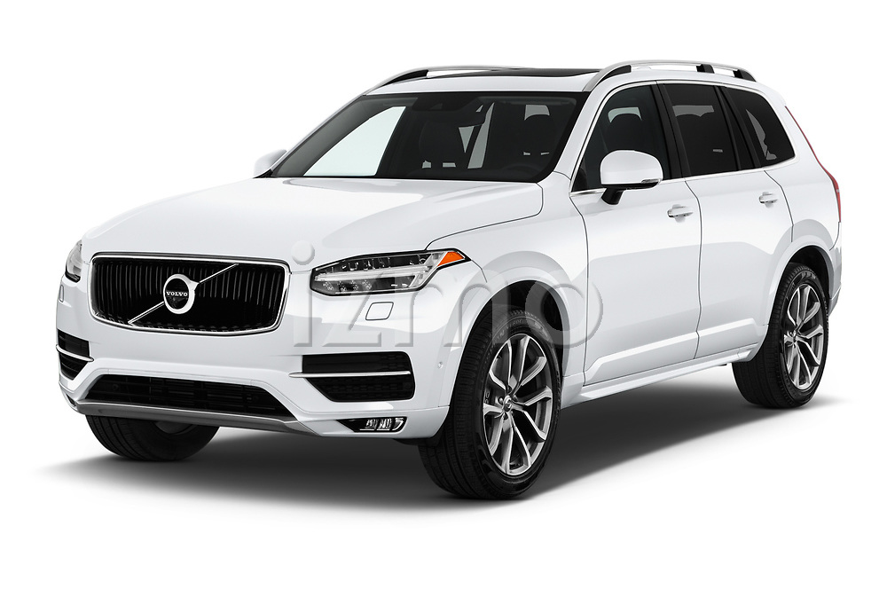 2019 Volvo XC90 T5 Momentum AWD 5 Door SUV angular front stock photos of front three quarter view