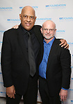 Oz Scott and Michael Wilson attend the SDC Foundation presents The Mr. Abbott Award honoring Kenny Leon at ESPACE on March 27, 2017 in New York City.