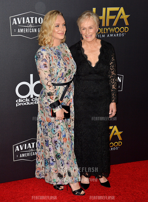 LOS ANGELES, CA. November 04, 2018: Glenn Close &amp; Annie Starke at the 22nd Annual Hollywood Film Awards at the Beverly Hilton Hotel.<br /> Picture: Paul Smith/Featureflash