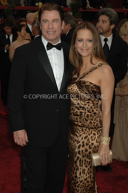 WWW.ACEPIXS.COM....February 25 2007, Los Angeles, California.........JOHN TRAVOLTA AND KELLY PRESTON....Red carpet arrivals at the 79th Academy Awards in Hollywood, California.....Please byline: DENNIS VAN TINE/ACEPIXS.COM....For information please contact Philip Vaughan:..tel: 646 769 0430..e-mail: info@acepixs.com..website: www.acepixs.com