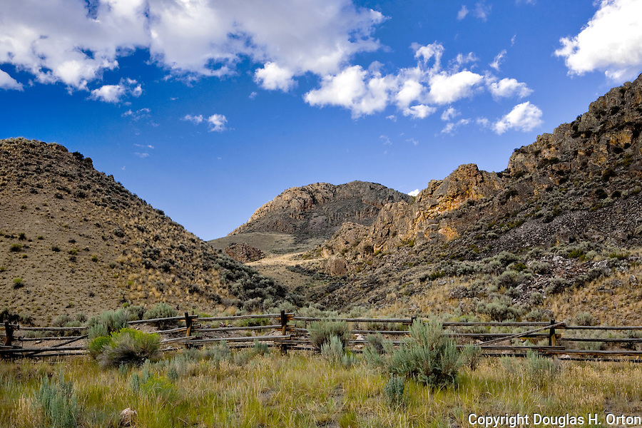 Morgan Creek Road, Idaho, cuts 65 dirt miles through the Salmon Challis National Forest from Highway 93 to the Salmon River Canyon road.  Landscapes are world class.  A gold rush area that supported three towns and 16 million dollars of gold mining in the 1860's.