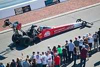 Nov 3, 2019; Las Vegas, NV, USA; NHRA top fuel driver Doug Kalitta during the Dodge Nationals at The Strip at Las Vegas Motor Speedway. Mandatory Credit: Mark J. Rebilas-USA TODAY Sports