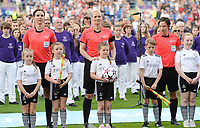 20170601 - CARDIFF , WALES : German referees Katrin Rafalski (r) , Bibiana Steinhaus and Christina Biehl (l) pictured during a womensoccer match between the teams of  Olympique Lyonnais and PARIS SG, during the final of the Uefa Women Champions League 2016 - 2017 at the Cardiff City Stadium , Cardiff - Wales - United Kingdom , Thursday 1  June 2017 . PHOTO SPORTPIX.BE | DAVID CATRY