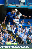 Chelsea's Marcos Alonso battles for possession with Everton's Mason Holgate       <br /> <br /> <br /> Photographer Craig Mercer/CameraSport<br /> <br /> The Premier League - Chelsea v Everton - Sunday 27th August 2017 - Stamford Bridge - London<br /> <br /> World Copyright &copy; 2017 CameraSport. All rights reserved. 43 Linden Ave. Countesthorpe. Leicester. England. LE8 5PG - Tel: +44 (0) 116 277 4147 - admin@camerasport.com - www.camerasport.com