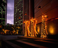 Christmas Angels, Downtown Honolulu, Oahu, Hawaii, USA.
