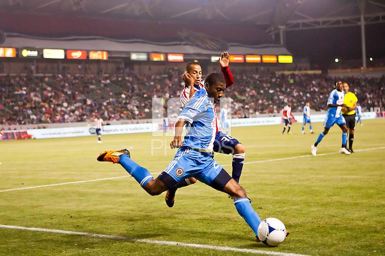 Carson, California - April 21, 2012: The Philadelphia Union defeated CD Chivas USA 1-0 at Home Depot Center stadium in Carson, California.