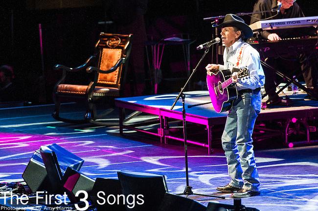"George Strait performs at the George Jones Tribute Concert ""Playin' Possum: The Final No Show"" at Bridgestone Arena in Nashville, TN"