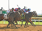 LEXINGTON, KY - APRIL 7: #12, Finley'sluckycharm  ridden by Brian Hernandez wins the G1 Madison at Keeneland Race Course on April 7, 2018 in Lexington, KY. (Photo by Jessica Morgan/Eclipse Sportswire/Getty Images)
