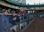 The Nevada team during the Reno Aces vs Wolf Pack baseball game at Greater Nevada Field in downtown Reno, Nevada on Tuesday, April 2, 2019.
