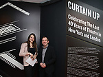 Leah Lane and curator Doug Reside at Curtain Up: Celebrating the Last 40 Years of Theatre in New York and London Exhibition on June 14, 2017 at the New York Public Library for the Performing Arts at Lincoln Center.