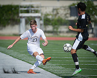 (Freelance, Photo by Kirby Lee)<br /> #23 Liam Walsh<br /> Occidental Colleges men's soccer vs. Whittier College on Oct. 17, 2015 in Kemp Stadium.<br /> (Freelance, Photo by Kirby Lee)