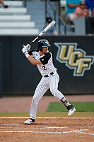UCF Knights center fielder Ray Alejo (2) at bat during a game against the Siena Saints on February 17, 2019 at John Euliano Park in Orlando, Florida.  UCF defeated Siena 7-1.  (Mike Janes/Four Seam Images)