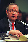 Special Prosecutor Kenneth Starr testifies during a United States House Judiciary Committee hearing on pending Articles of Impeachment against U.S. President Bill Clinton on Capitol Hill in Washington, D.C. on November 19, 1998..Credit: Ron Sachs / CNP