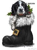 Marcello, CHRISTMAS ANIMALS, WEIHNACHTEN TIERE, NAVIDAD ANIMALES, paintings+++++,ITMCXM2126B,#xa# ,dog,shoe,boot,