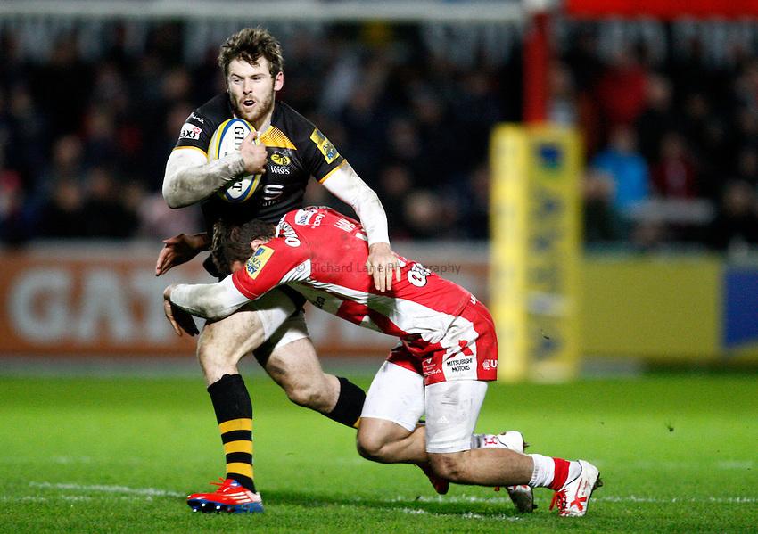 Photo: Richard Lane/Richard Lane Photography. Gloucester Rugby v London Wasps. Aviva Premiership. 02/11/2013 Wasps' Elliot Daly attacks.
