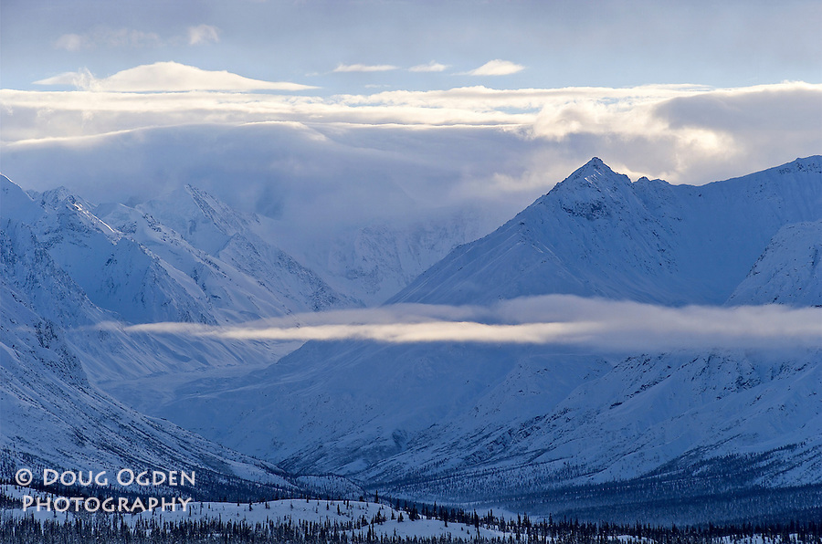 Clouds in Chugach Mountains from Eureka Pass