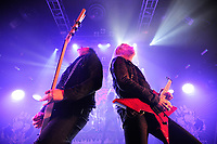 LONDON, ENGLAND - FEBRUARY 11: Michael Amott and Jeff Loomis of 'Arch Enemy' performing at KOKO on February 11, 2018 in London, England.<br /> CAP/MAR<br /> &copy;MAR/Capital Pictures