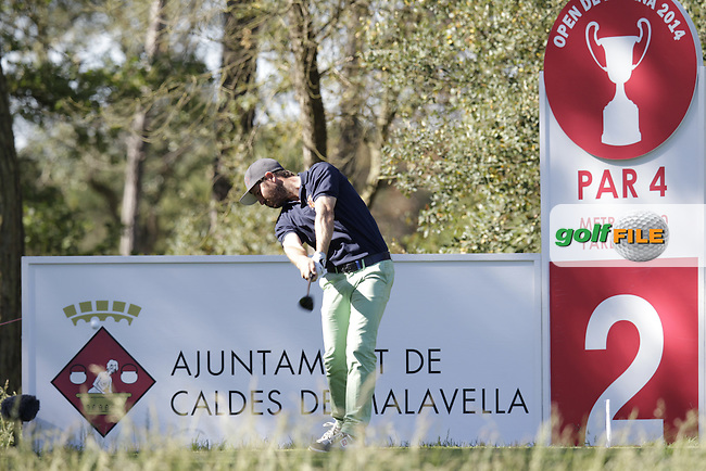 Pablo Martin Benavides (ESP) tees off the 2nd tee during Thursday's Round 1 of the 2014 Open de Espana held at the PGA Catalunya Resort, Girona, Spain. Wednesday 15th May 2014.<br /> Picture: Eoin Clarke www.golffile.ie