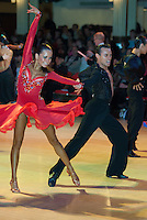 Denis Podolski and Yuliya Kushnirenko from Russia perform their dance during the Blackpool Dance Festival that is the most famous event among dance competitions held in Empress Ballroom Wintergardens in Blackpool, Great Britain on May 27, 2008. ATTILA VOLGYI