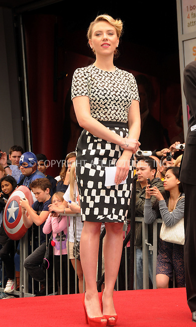 WWW.ACEPIXS.COM . . . . .  ....May 2 2012, LA....Actress Scarlett Johansson is honored on the Hollywood Walk of Fame on May 2, 2012 in Hollywood, California. ....Please byline: PETER WEST - ACE PICTURES.... *** ***..Ace Pictures, Inc:  ..Philip Vaughan (212) 243-8787 or (646) 769 0430..e-mail: info@acepixs.com..web: http://www.acepixs.com