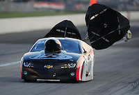 Sept. 3, 2011; Claremont, IN, USA: NHRA pro mod driver Rickie Smith during qualifying for the US Nationals at Lucas Oil Raceway. Mandatory Credit: Mark J. Rebilas-