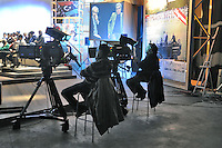 - Milano, gli studi televisivi di LA7 da cui va in onda la trasmissione di approfondimento informativo &quot;L'Infedele&quot;<br /> <br /> - Milan, television studios of LA7 from which is transmitted the in-depth information show &quot;L'Infedele&quot;