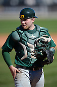 Siena Saints catcher John Rooney (4) during a game against the Central Florida Knights at Jay Bergman Field on February 16, 2014 in Orlando, Florida.  UCF defeated Siena 9-6.  (Copyright Mike Janes Photography)