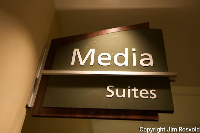 Press Box Sign.