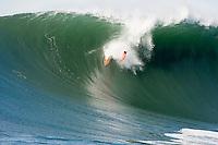 Jamie Sterling taking a huge spill.   Mavericks Surf Contest 2008.  Half Moon Bay, Ca.  January 12, 2008.