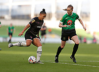 3rd November 2019; Aviva Stadium, Dublin, Leinster, Ireland; FAI Cup Womens Final Football, Peamount United versus Wexford Youth Womens Football Club; Rianna Jarrett (Wexford Youths) tries to get past Claire Walsh (Peamount United) - Editorial Use