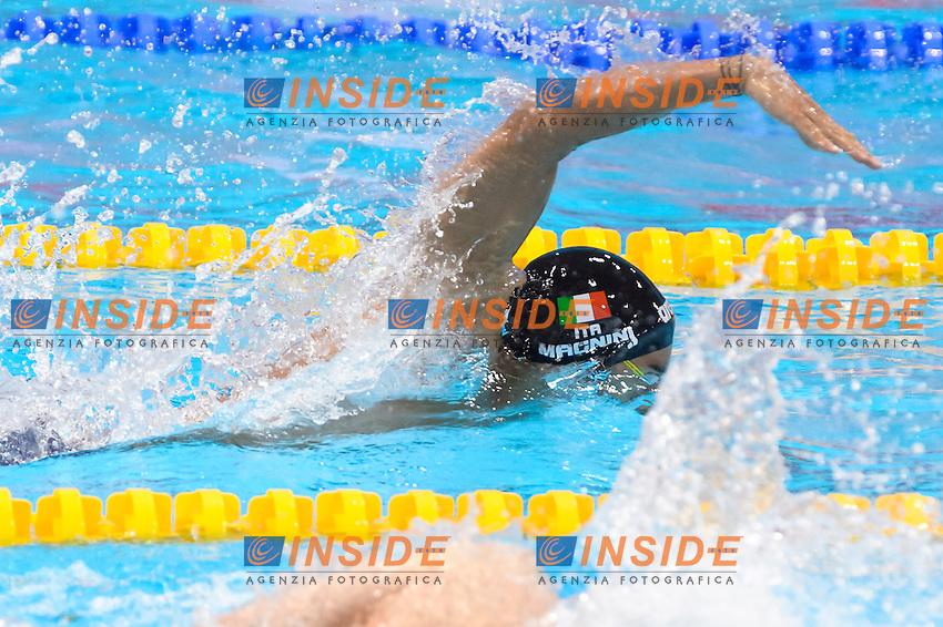 ITALY ITA Silver Medal <br /> DOTTO Luca LEONARDI Luca BOFFA Jonathan MAGNINI Filippo <br /> Men 4x100m Freestyle Relay Final <br /> London, Queen Elizabeth II Olympic Park Pool <br /> LEN 2016 European Aquatics Elite Championships <br /> Diving  <br /> Day 08 16-05-2016<br /> Photo Andrea Staccioli/Deepbluemedia/Insidefoto