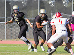 Palos Verdes, CA 10/21/16 - Aidan Kuykendall (Peninsula #7) and Jeffrey Jimena (Peninsula #6) in action during the CIF Southern Section Bay League Redondo Union - Palos Verdes Peninsula game at Peninsula High School.