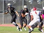Palos Verdes, CA 10/21/16 - Aidan Kuykendall (Peninsula #7) and Jeffrey Jimena (Peninsula #6) in action during the CIF Southern Section Bay League Redondo Union - Palos Verdes Peninsula game at Peninsula High School.