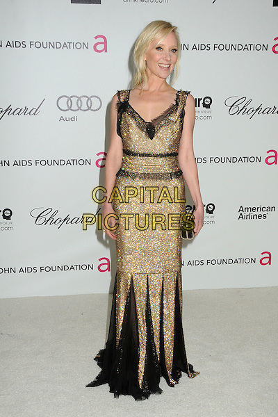 Anne Heche.20th Annual Elton John Academy Awards Viewing Party held at West Hollywood Park, West Hollywood, California, USA..February 26th, 2012.oscars full length black gold dress lace beads beaded clutch bag.CAP/ADM/BP.©Byron Purvis/AdMedia/Capital Pictures.