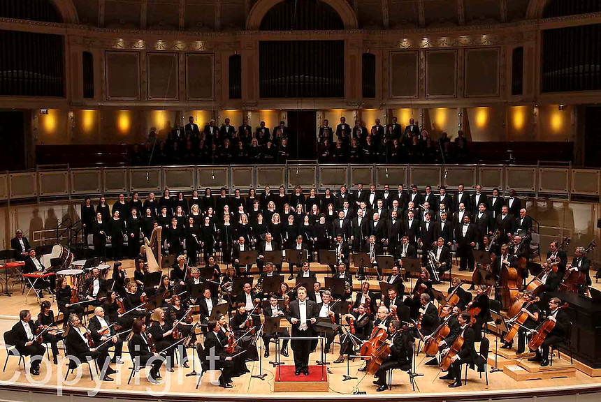 Peace Through Music at the Symphony Center conducted by Sir Gilbert Levine