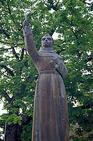Statue of Fray Junipero Serra in Jalpan, Queretaro, Mexico. Junipero Serra established five Franciscan missions in the Sierra Gorda between 1751 and 1768.