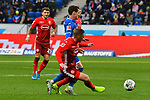 30.11.2019, PreZero-Arena, Sinsheim, GER, 1. FBL, TSG 1899 Hoffenheim vs. Fortuna Duesseldorf, <br /> <br /> DFL REGULATIONS PROHIBIT ANY USE OF PHOTOGRAPHS AS IMAGE SEQUENCES AND/OR QUASI-VIDEO.<br /> <br /> im Bild: Sebastian Rudy (TSG 1899 Hoffenheim #16) gegen Rouwen Hennings (Fortuna Duesseldorf #28)<br /> <br /> Foto © nordphoto / Fabisch