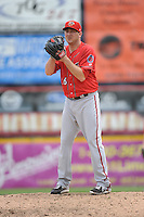 Harrisburg Senators pitcher Tyler Herron (26) during the game against the Trenton Thunder at ARM & HAMMER Park on May 21, 2014 in Trenton, New Jersey.  Harrisburg defeated Trenton 9-0.  (Tomasso DeRosa/Four Seam Images)