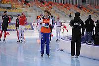 SPEEDSKATING: SOCHI: Adler Arena, 20-03-2013, Training, Renate Groenewold (trainer/coach Team Corendon), © Martin de Jong