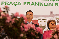 ATENCAO EDITOR: FOTO EMBARGADA PARA VEICULOS INTERNACIONAIS. - SAO PAULO, SP , 29 DE SETEMBRO DE 2012 - COTIDIANO - PRACA ROOSEVELT REINAUGURACAO- O prefeito Gilberto Kassab (PSD), participou da entrega da parca Roosevelt. O local passou por reformas nos últimos dois anos, teve sua estrutura recuperada, ganhou novos espaços abertos LOCAL: Praça Roosevelt, Centro de Sao Paulo, SP, FOTO VAGNER CAMPOS/BRAZIL PHOTO PRESS