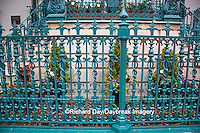66512-00111 Iron fence and decorations on John Rutledge House Inn Bed & Breakfast, Charleston, SC