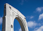 The Bridge of Remembrance is one of two main war memorials in Christchurch, New Zealand.