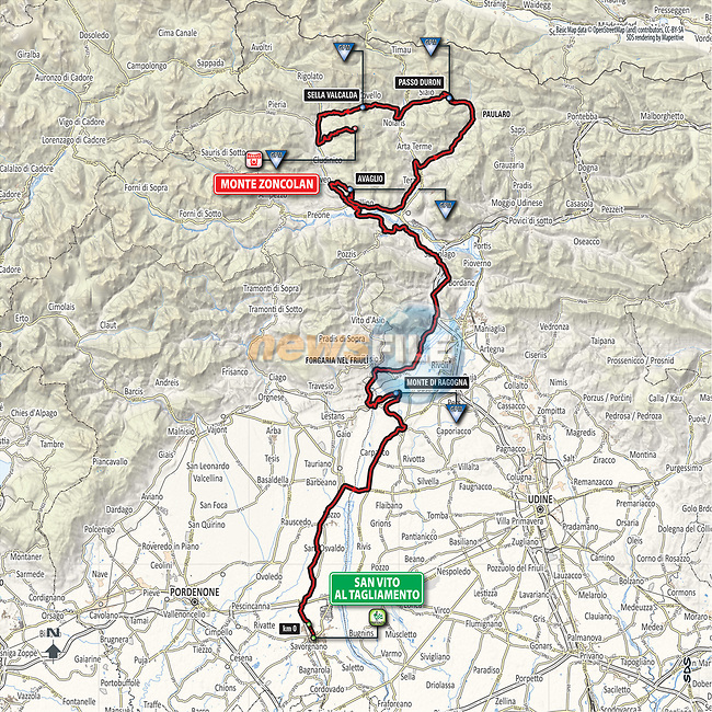 eri tavalla poimittu Kivat kengät Giro d'Italia 2018 Route Presentation | www.newsfile.ie