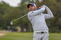 Sergio Garcia (ESP) watches his approach shot no 14 during Round 2 of the Valero Texas Open, AT&amp;T Oaks Course, TPC San Antonio, San Antonio, Texas, USA. 4/20/2018.<br /> Picture: Golffile | Ken Murray<br /> <br /> <br /> All photo usage must carry mandatory copyright credit (&copy; Golffile | Ken Murray)