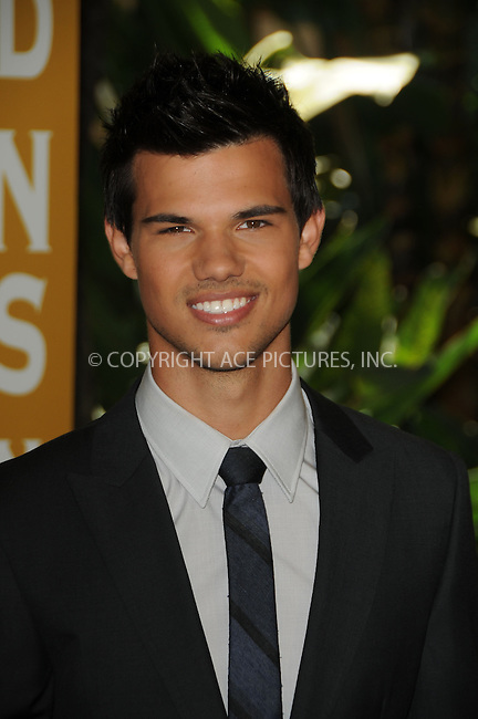 WWW.ACEPIXS.COM . . . . .  ....August 4 2011, LA....Taylor Lautner arriving at The Hollywood Foreign Press Association's 2011 Installation Luncheon at Beverly Hills Hotel on August 4, 2011 in Beverly Hills, California.....Please byline: PETER WEST - ACE PICTURES.... *** ***..Ace Pictures, Inc:  ..Philip Vaughan (212) 243-8787 or (646) 679 0430..e-mail: info@acepixs.com..web: http://www.acepixs.com