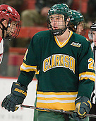 Matt Zarbo (Clarkson - 21) - The Harvard University Crimson defeated the visiting Clarkson University Golden Knights 3-2 on Harvard's senior night on Saturday, February 25, 2012, at Bright Hockey Center in Cambridge, Massachusetts.
