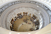 The Rotunda of the US Capitol is seen from one of the upper levels of the newly-restored Capitol Dome in Washington, DC, November 15, 2016.<br /> Credit: Olivier Douliery / Pool via CNP