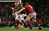 2nd December 2017, Principality Stadium, Cardiff, Wales; Autumn International Rugby Series, Wales versus South Africa; Trevor Nyakane of South Africa is tackled by Rhys Patchell of Wales