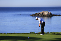 Shane Lowry (IRL) takes his putt on the 5th green at Pebble Beach course during Friday's Round 2 of the 2018 AT&amp;T Pebble Beach Pro-Am, held over 3 courses Pebble Beach, Spyglass Hill and Monterey, California, USA. 9th February 2018.<br /> Picture: Eoin Clarke | Golffile<br /> <br /> <br /> All photos usage must carry mandatory copyright credit (&copy; Golffile | Eoin Clarke)
