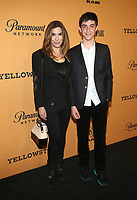LOS ANGELES, CA - JUNE 11: Jo Champa, son, Sean, at the premiere of Yellowstone at Paramount Studios in Los Angeles, California on June 11, 2018. <br /> CAP/MPI/FS<br /> &copy;FS/MPI/Capital Pictures